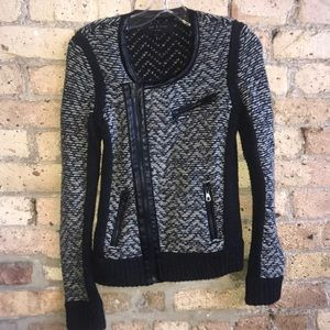 Rag & Bone zip up knit jacket .